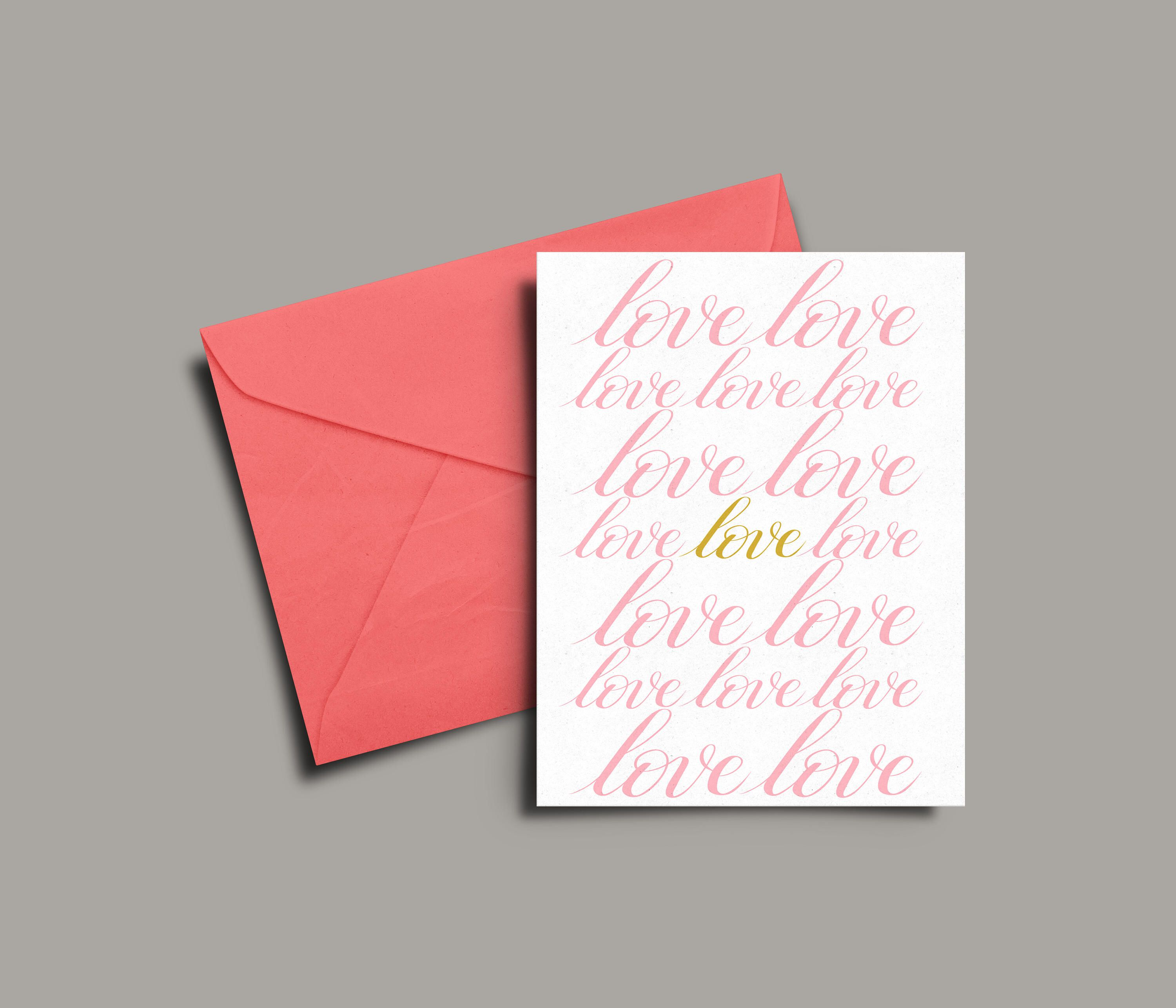 Print Your Own Card Printable Love Card Modern Note A6 Greeting