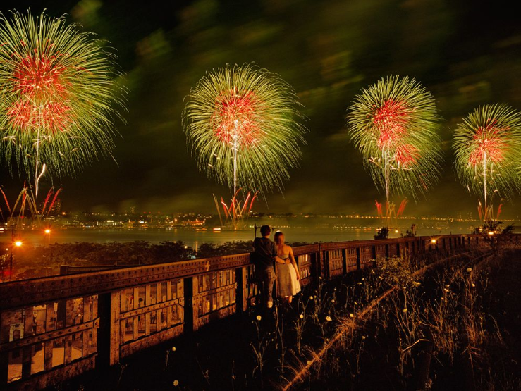 Fireworks, New York City  Photograph by Diane Cook and Len Jenshel, National Geographic