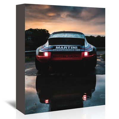 East Urban Home Martini Porsche Photographic Print on Wrapped Canvas | Wayfair