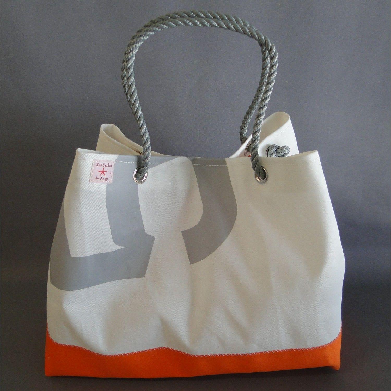 belle qualité 100% authentique nouvelle version Sac en toile de bateau recyclé - Les Toiles du Large   sac ...