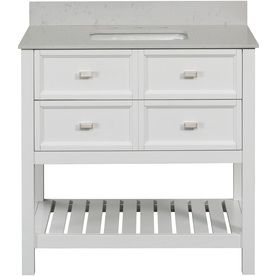 Scott Living Canterbury White Single Sink Poplar Bathroom Vanity