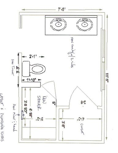 8 x 10 master bathroom layout - Google Search in 2019 ...
