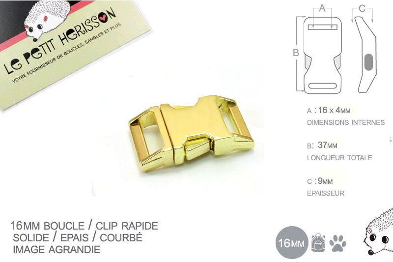 3178d318a1775 1 x 16mm Boucle Attache Rapide / Fermoir Clip / Metal / Placage ...