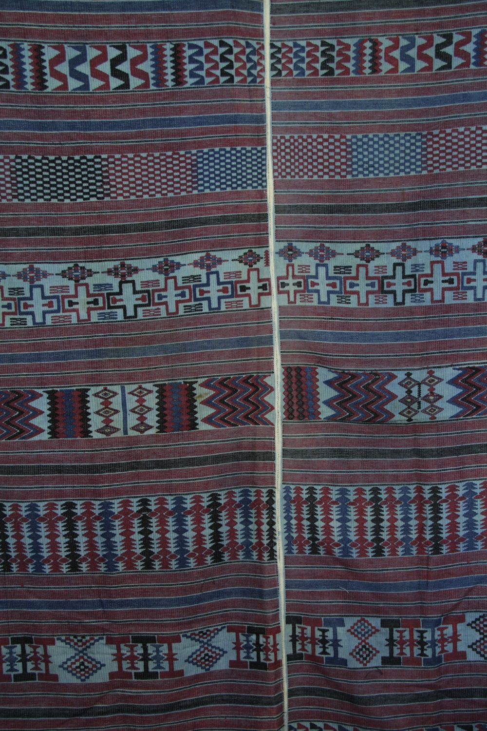 Vintage Rare Nupe Hand Woven Wrapper Cloth /Wall Hanging/ Nupe Hand Loomed Cotton by Grainsofafrica on Etsy