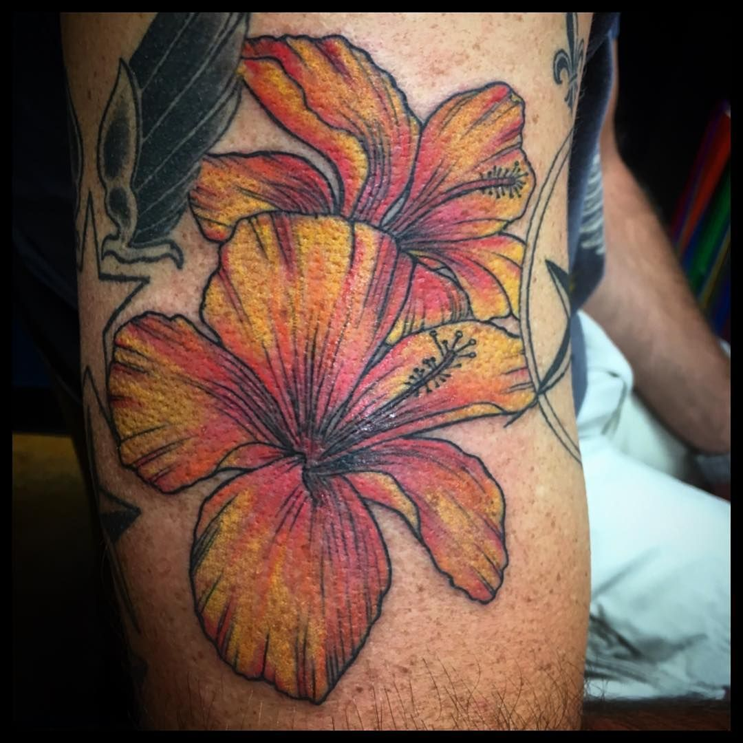 Cool 60 Awesome Hibiscus Tattoo Ideas For Men Your Powerful Totem