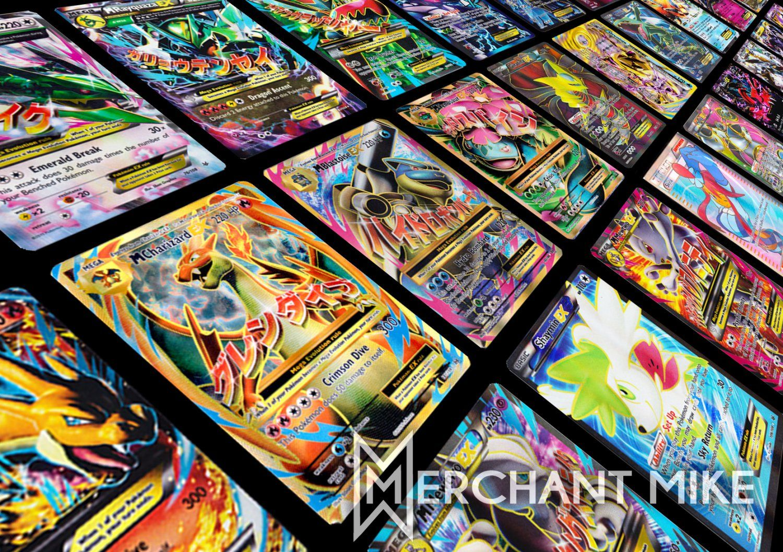 Amazing 50 Pokemon Card Lot Gx Ex Break Full Art Mega