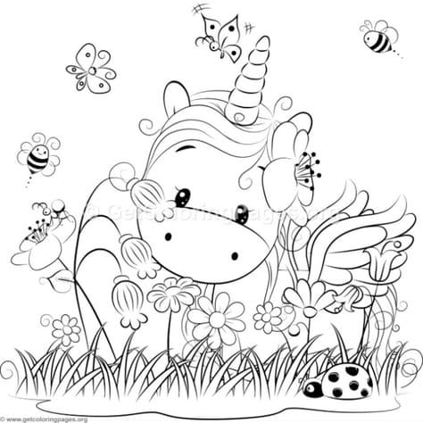 Cute Unicorn 3 Coloring Pages – GetColoringPages.org ...