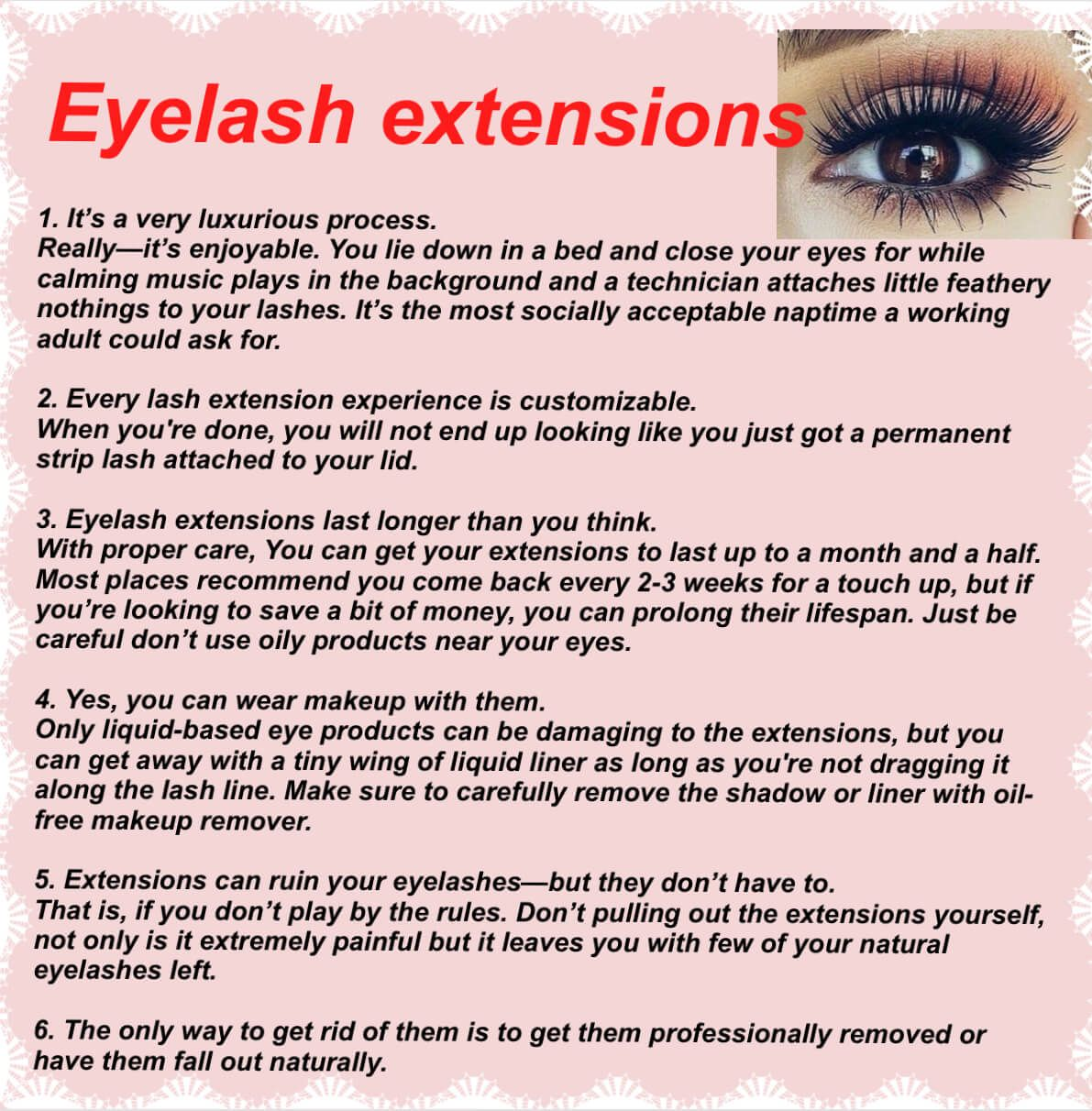 lash appointment rules Google Search Lashes, Eyelashes