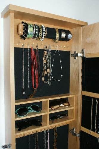 Vanity closet organizador de accesorios espejo y alhajero for Espejos de cuerpo completo modernos