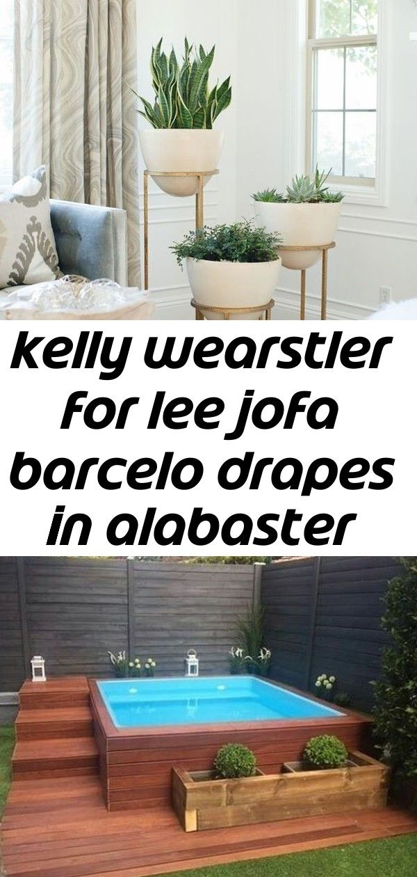 Kelly wearstler for lee jofa barcelo drapes in alabaster also comes in taupe  planters  ideas 2 Kelly Wearstler for Lee Jofa Barcelo Drapes in Alabaster also comes in Tau...
