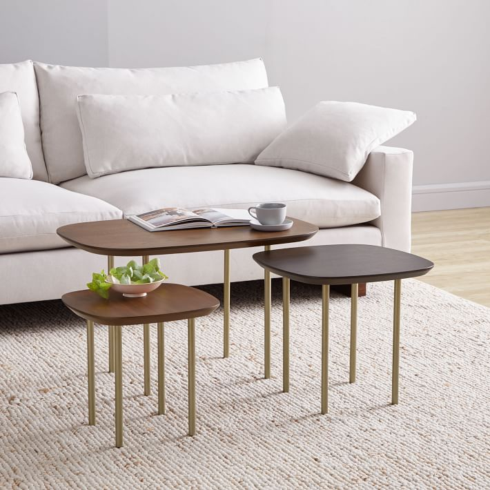 Trio Nesting Tables Set Of 3 Small Living Room Table Coffee Table Furniture For Small Spaces #nesting #tables #living #room