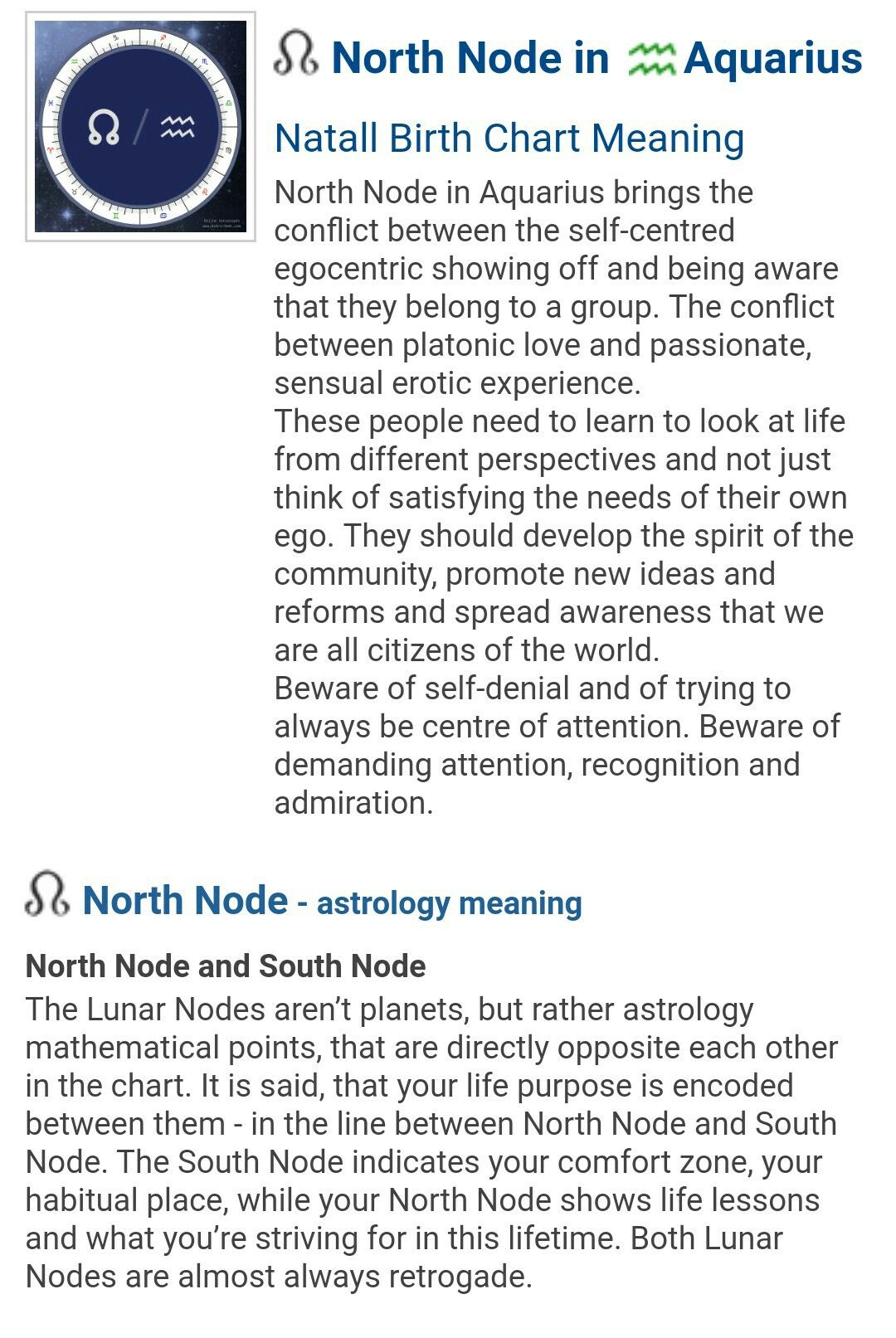 North Node In Aquarius Virgo Moon Birth Chart Natal Charts
