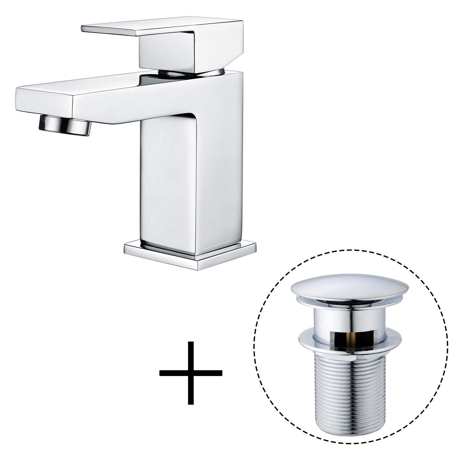 Basin Tap Bathroom Sink Mixer Tap Waterfall Chrome With Pop Up Waste Hapilife Amazon Co Uk Diy Tools Sink Mixer Taps Basin Taps Basin