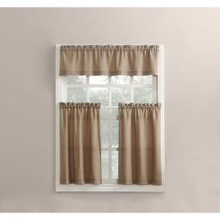 Mainstays Microfiber Rod Pocket Valance Only** Solid White Microfiber NEW