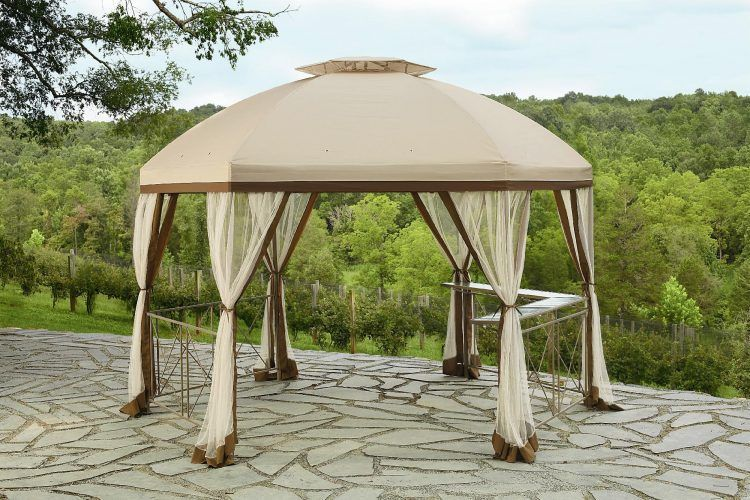 20 Beautiful Yards With Outdoor Canopy Designs Gazebo