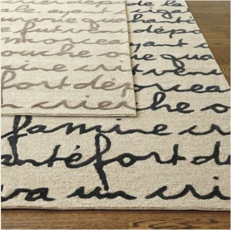 French Script Area Rugs Rug Ideas
