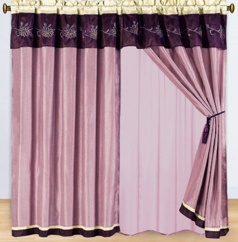 """1 Pair of Grand Park Purple Window curtain set including 2 panels 60x84"""" each sheetsnthings,http://www.amazon.com/dp/B00BISP4WM/ref=cm_sw_r_pi_dp_R8cVsb1SKX8WBW3G"""