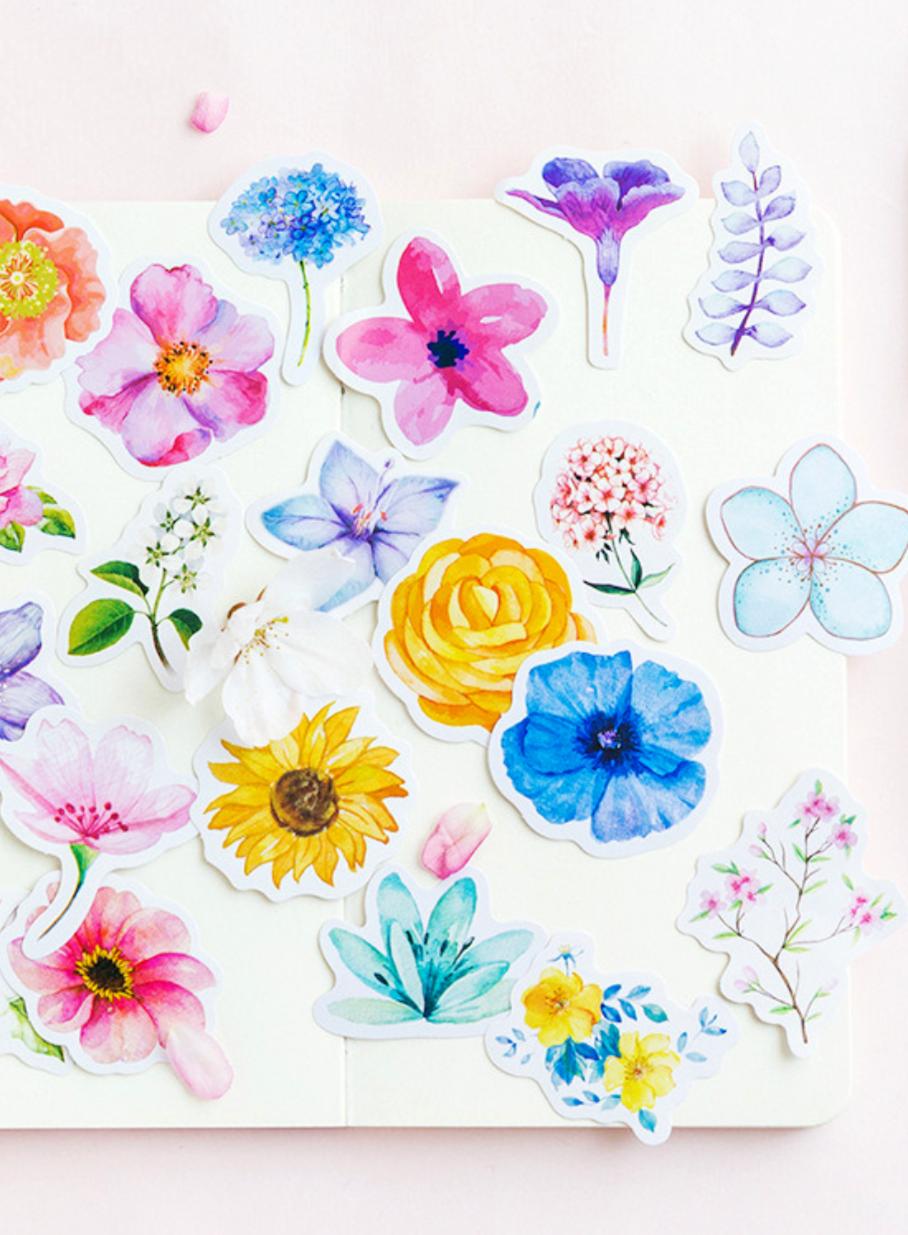 floral dream paper stickers - violet | want!!!!! | pinterest