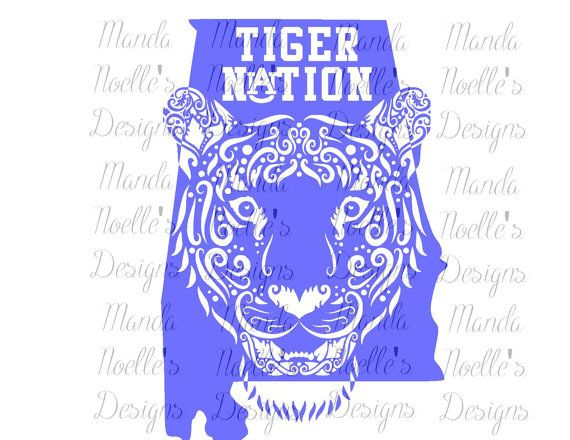Auburn Tiger Nation SVG, Silhouette, and Cricut Instant Download