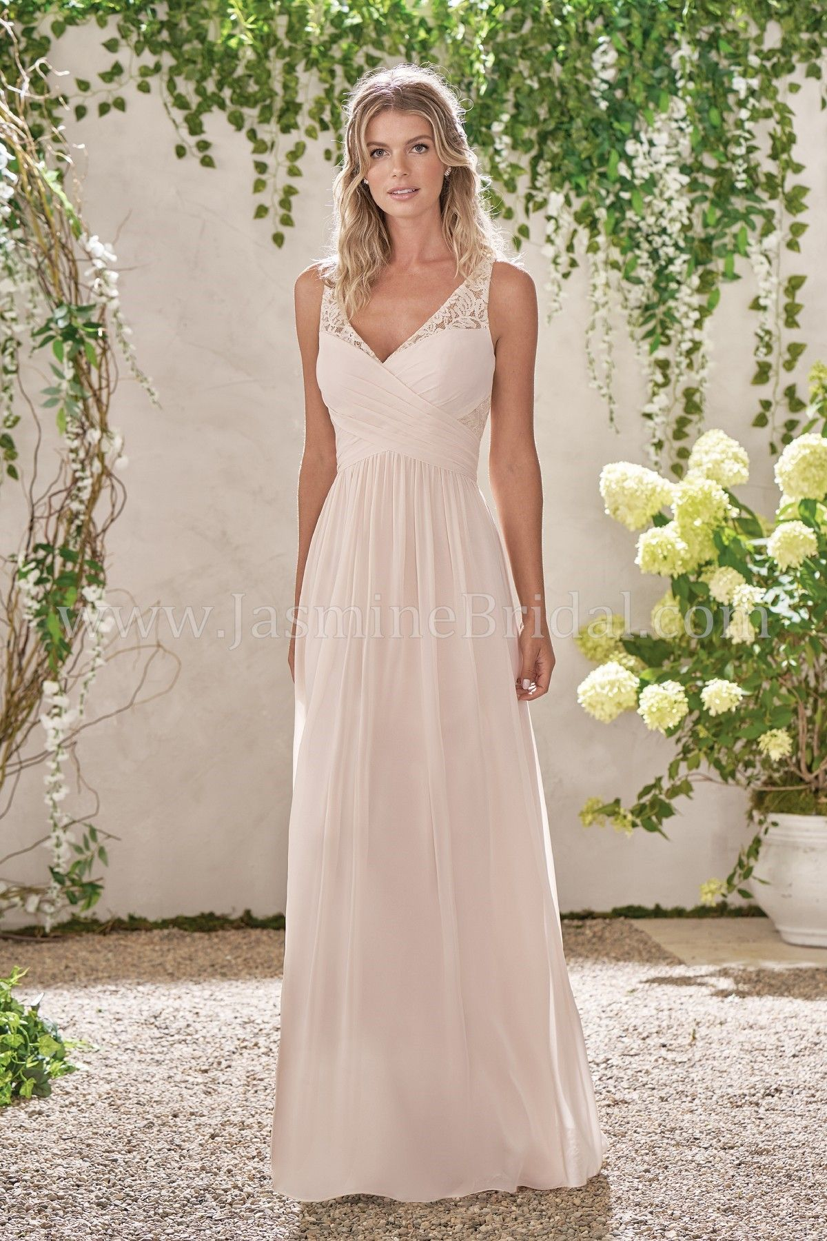 45d28dfced Jasmine Bridal - B2 Style B193001 in Poly Chiffon Lace