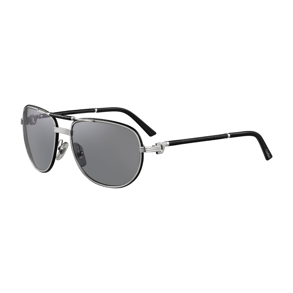 ad057d94419 Must de Cartier Sunglasses - Limited edition. Black leather