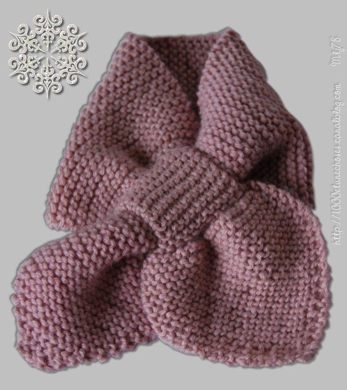 modele tricot echarpe bebe
