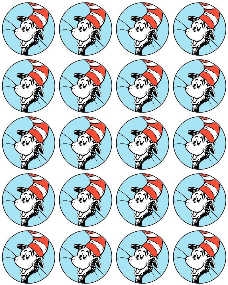 Dr seuss cupcake toppers