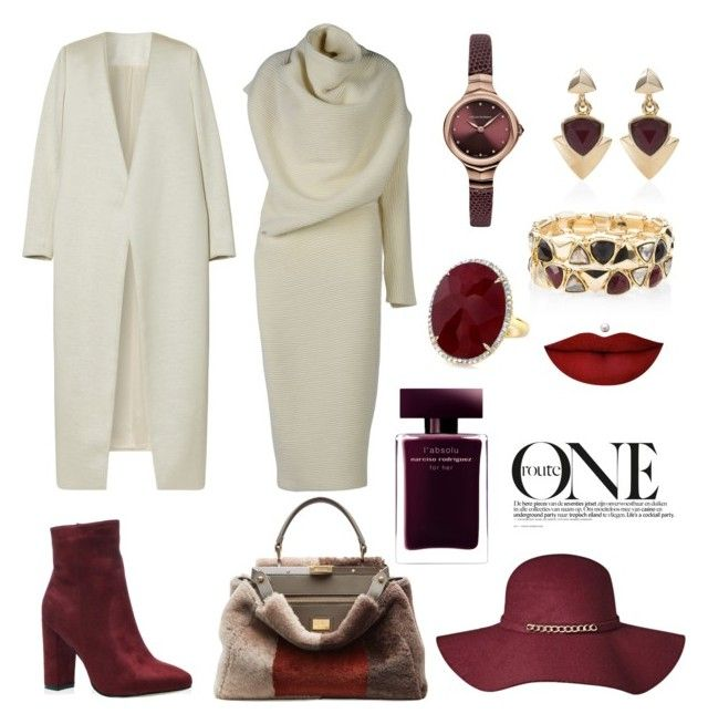 """#winter#cold#azerbaijan#baku❤️"" by ayashtagieva ❤ liked on Polyvore featuring Acne Studios, Fendi, E L L E R Y, Emporio Armani, White House Black Market, Anastasia Beverly Hills and Narciso Rodriguez"