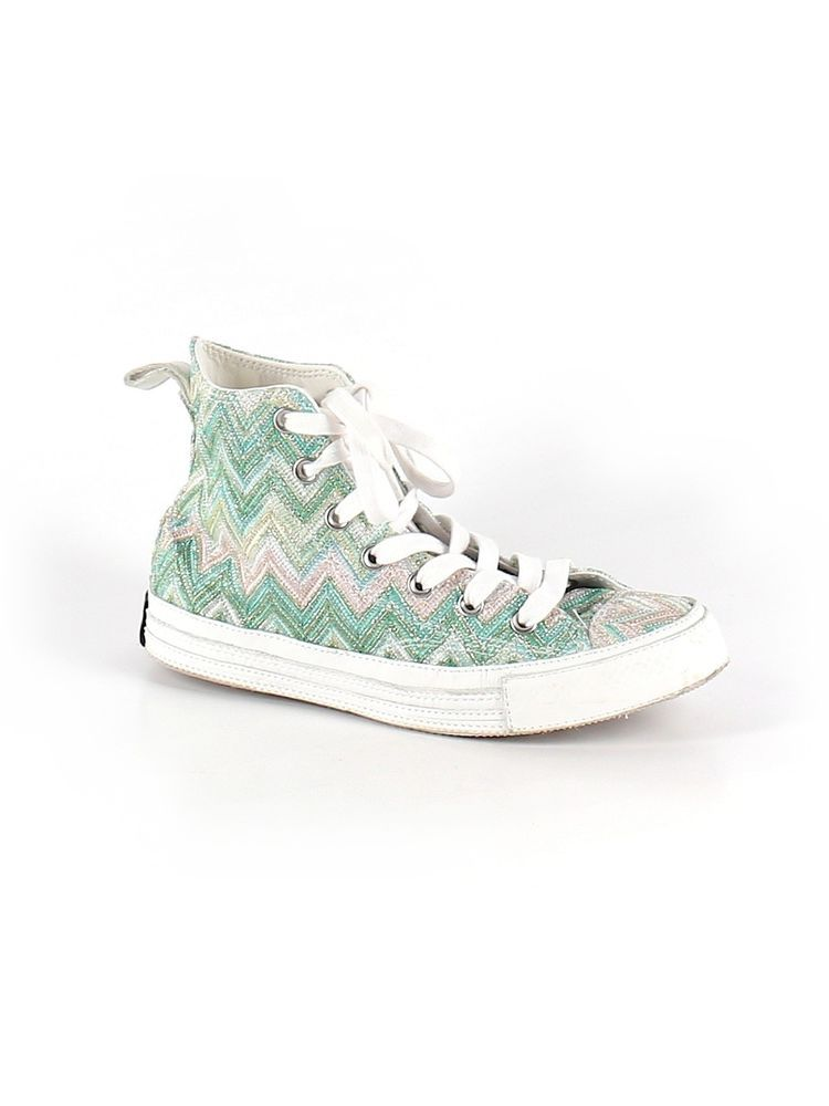 Converse All Star Missoni Green Silver Hi Top Sneaker Shoe Size Men 6 Women  8 39