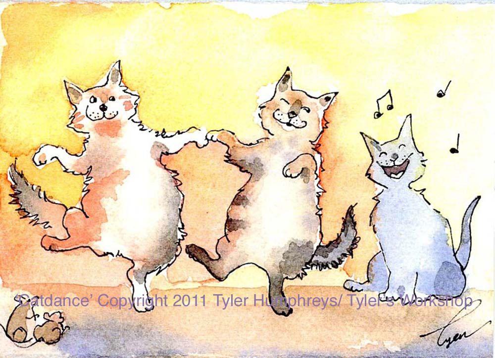 Cat Kneading Dog Cartoon