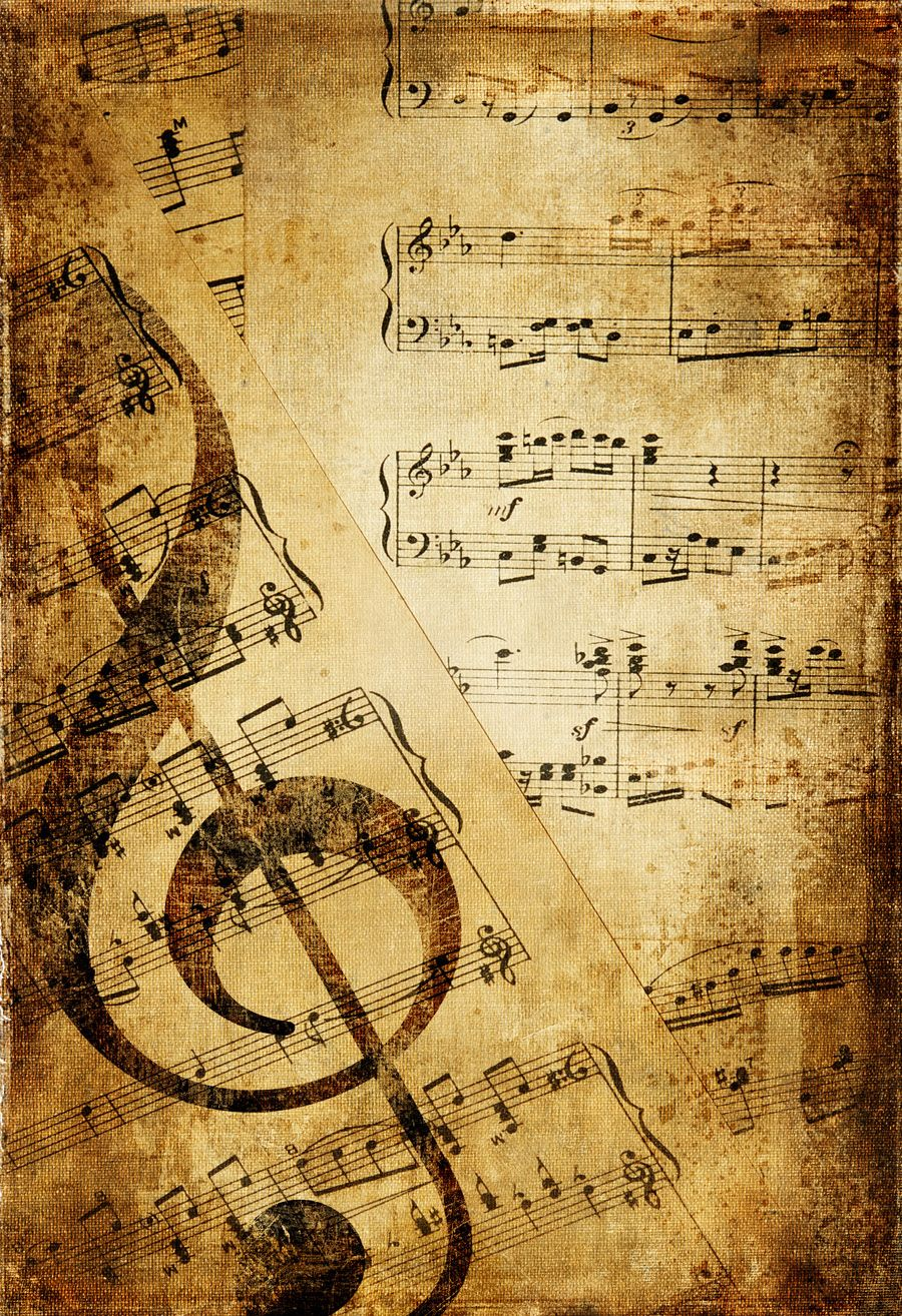 Vintage Music Note Wallpaper High Quality Resolution Click Wallpapers Sheet Music Art Grunge Art Music Notes