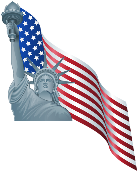 American Flag And Statue Of Liberty Png Clip Art Clip Art Statue American