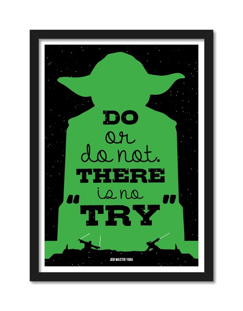 Do Or Do Not Framed Yoda Movie Quote Posters Inspirational Quotes Posters