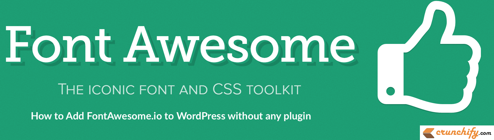 How to add FontAwesome.io Fonts to WordPress without any