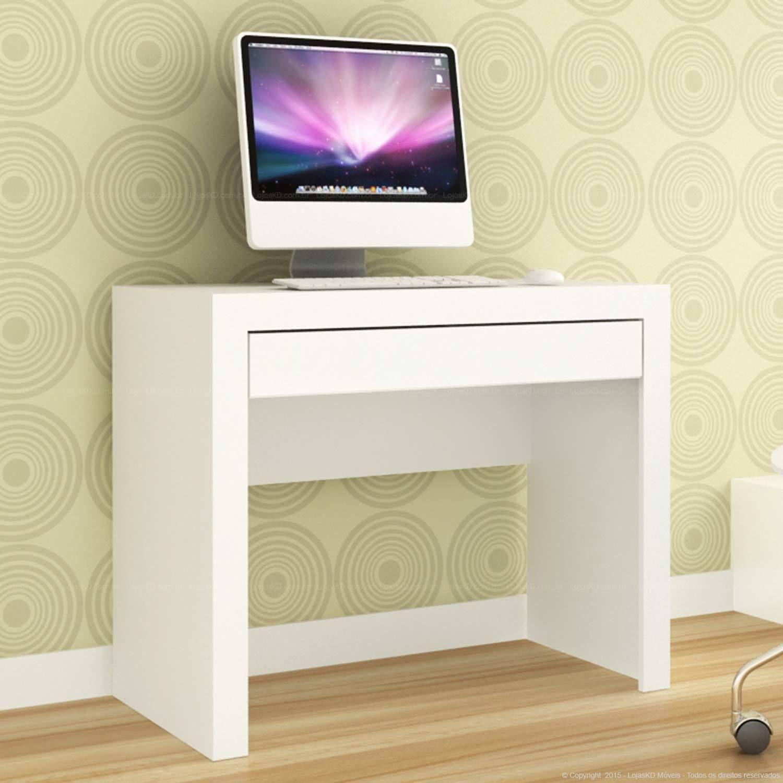 Mesa Para Computador 1 Gaveta Msm 421 Branco M Vel Bento Lojas  ~ Quarto Juvenil Menina Com Caixote De Feira Quarto