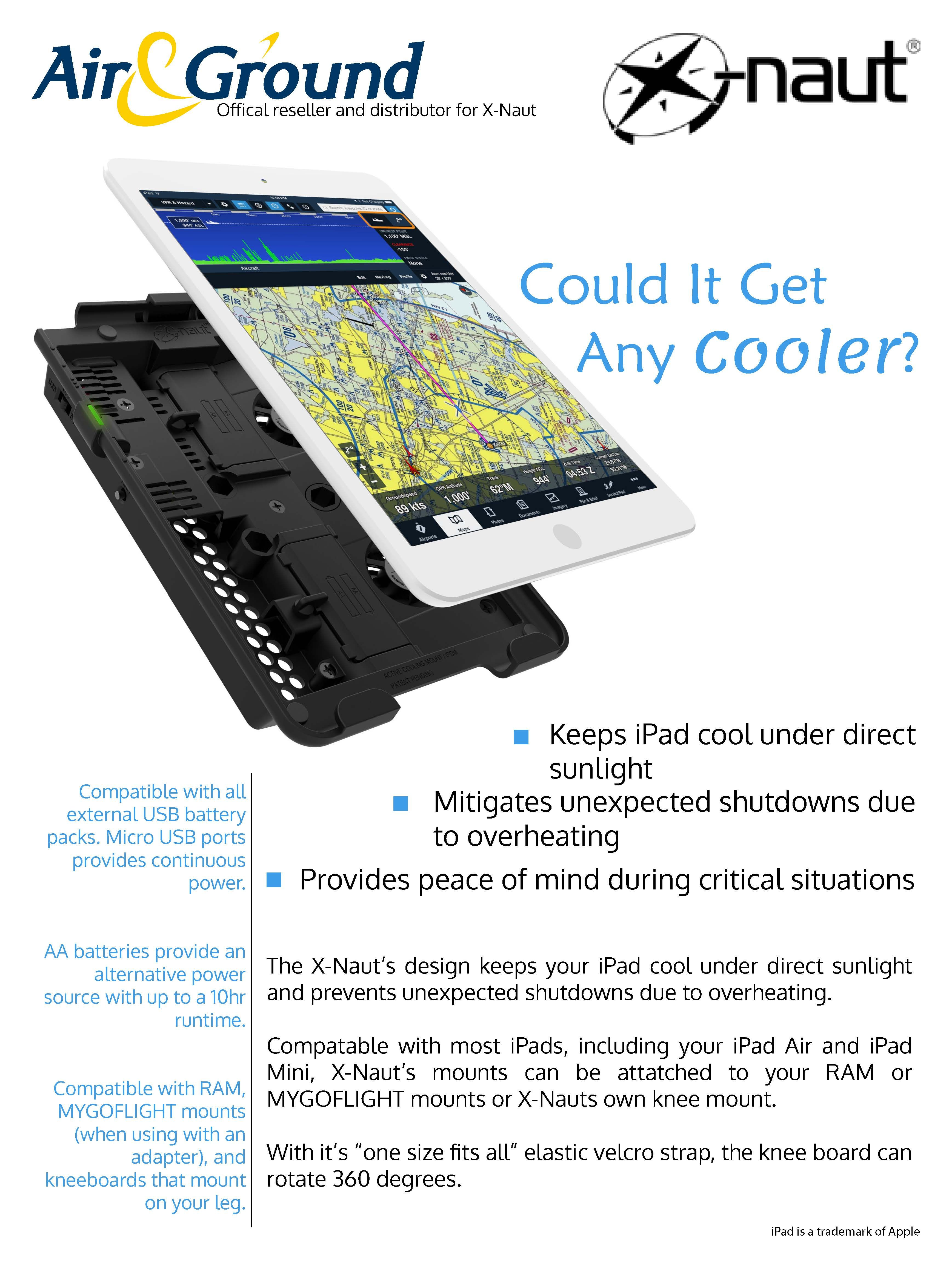 Introducing Xnaut. The active cooling mount for your iPad
