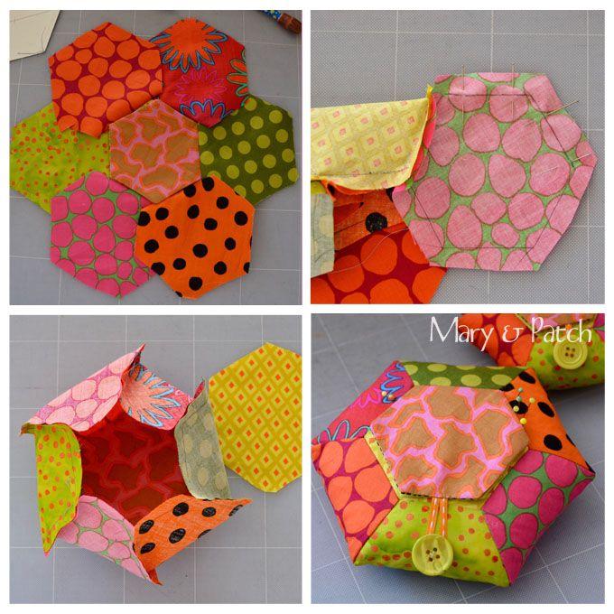 Maryandpatch, Hexagon Pincushion DIY