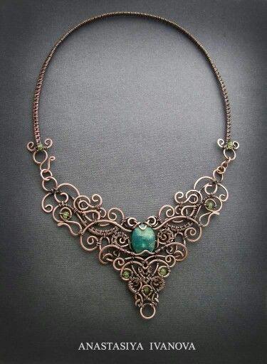 Pin von Laila Rasmussen auf Wire Wrapped Jewelry, Copper, Silver ...