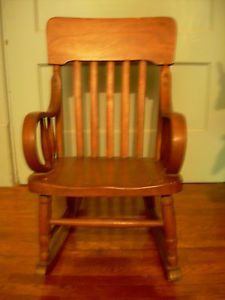 alabama rocking chair kohls cushions antique for child c 1920s bent wood arms molded seat