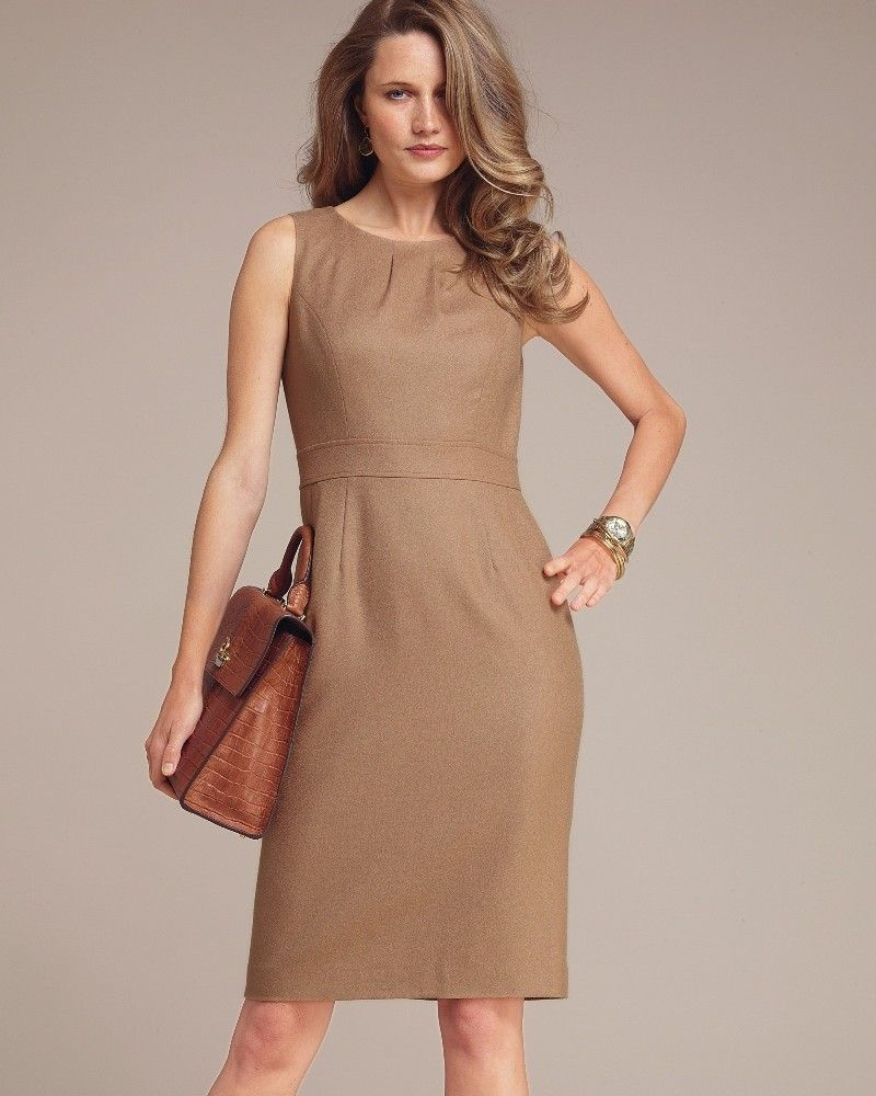 39e394428c74 Top 10 Dress Styles for Women Over 50 #6: SHEATH/SHIFT Again, simple is  sophisticated. If you've got a straight or petite body frame, ...