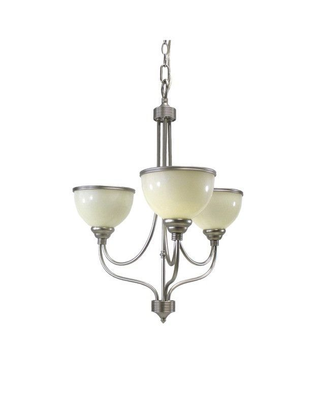 Triarch Lighting 29682 Bs Three Light Hanging Chandelier In