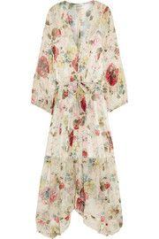 Mischief floral-print silk-georgette dress