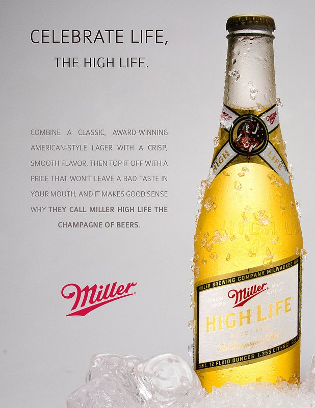 Beer Photography 2 - Miller High Life - Miami Ad School | Flickr - Photo Sharing!