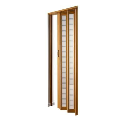 Century Vinyl Beech Frosted Square Acrylic Accordion Door PRCE3280BESQ    The Home Depot