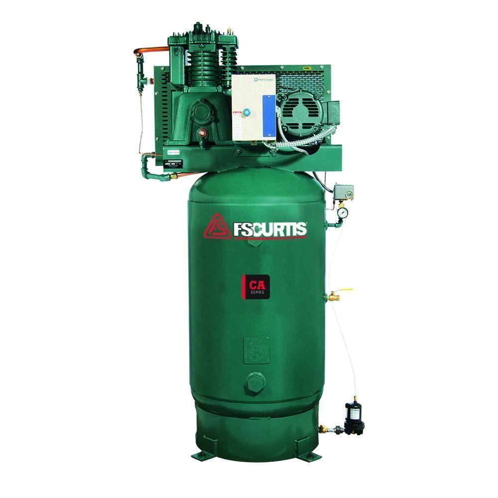 FS-Curtis 80 Gal. 7.5 HP 230-Volt 1-Phase Electric UltraPack Air Compressor-FCA07E57V8U-A2L1XX - The Home Depot