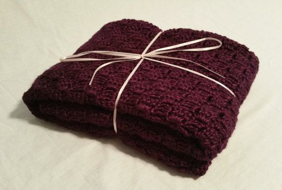 Bamboo Silk Corner to Corner Afghan by CuddleUpBoutique on Etsy