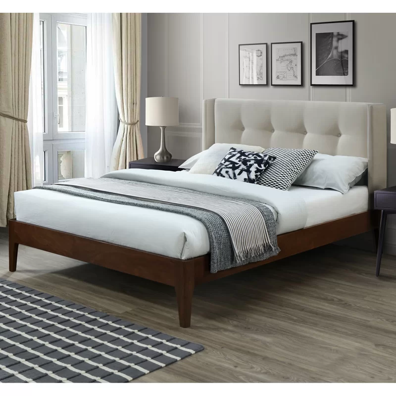 Birdsall Conway Queen Upholstered Platform Bed Reviews Allmodern Wood And Upholstered Bed Upholstered Platform Bed Platform Bed