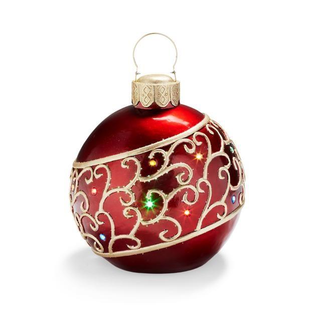Fiber Optic LED Ornament Striped | Handpainted christmas ...