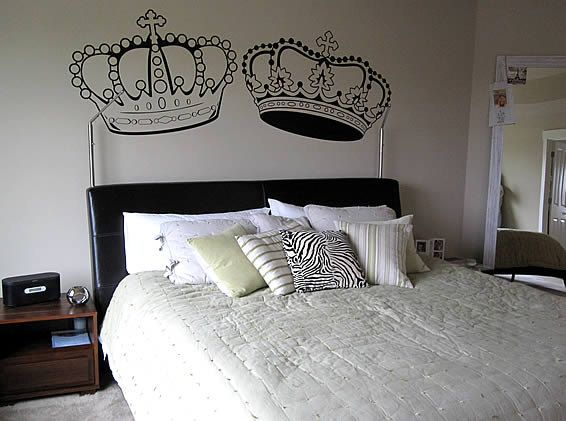 King And Queen Crown Wall Decalfastdesigns On Etsy $1500 Interesting King And Queen Bedroom Decor Inspiration Design