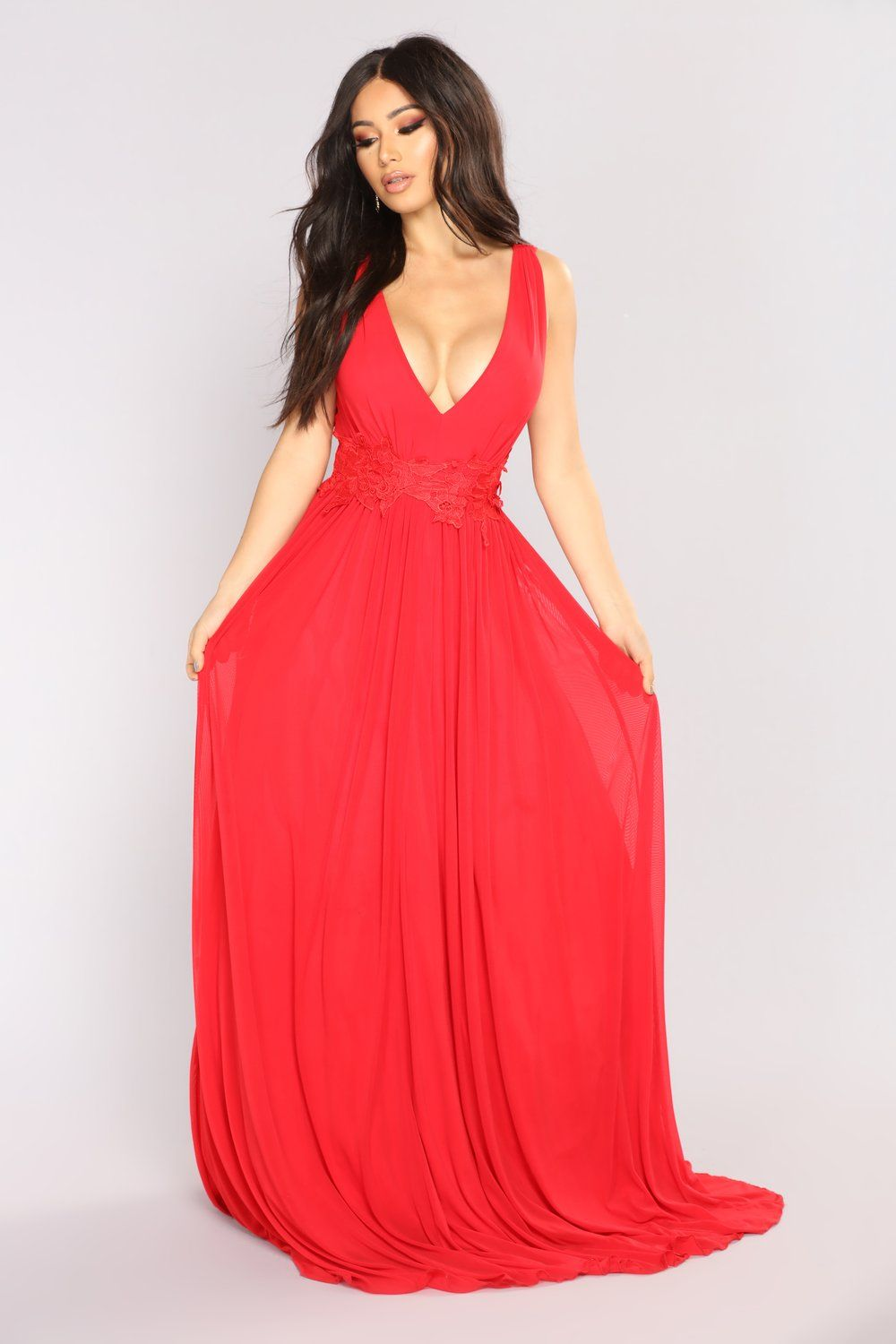 Ingrid Maxi Dress Red (With images) Red dresses classy